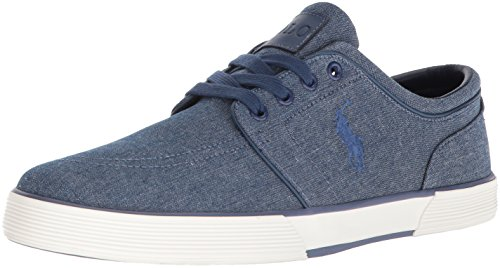 Polo Ralph Lauren Heren Faxon Lage Sneaker Indigo Chambray