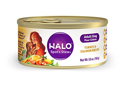 Halo Natural Wet Dog Food, Turkey & Salmon Recipe, 5.5-Ounce Can (Pack Of 12)