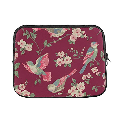 (Design Custom Isabelle Floral Toile Wallpaper A Floral Toile Wal Sleeve Soft Laptop Case Bag Pouch Skin for MacBook Air 11