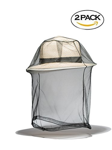 Viihahn Mosquitos Head Face Net Insect Repellent Netting (2 Pack) Outdoor Activities Hiking Fishing Hunting Camping Backpacking Protect from Insects Bugs and Diseases
