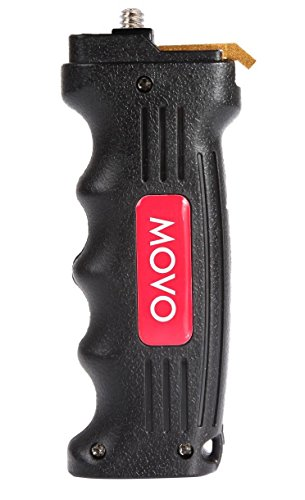 Movo Pistol Hand Grip Video Stabilizer Handle with Quick Release Plate for DSLR & Mirrorless Cameras - Universal 1/4 Tripod Screw Attachment