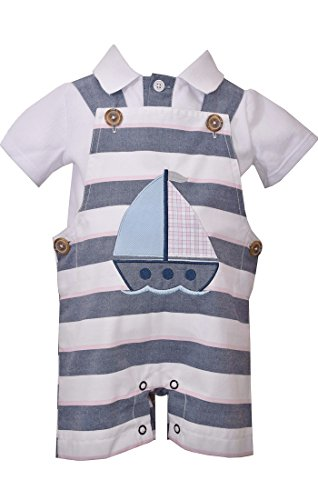 Bonnie Jean Baby Boy's Sailboat Coverall (4T) by Bonnie Jean