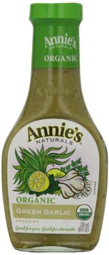 Annie's Organic Gluten Free Green Garlic Dressing Vinegar Free 8 fl oz Bottle ()