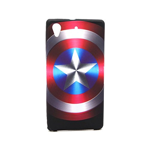 Captain America - Shield Avengers Case Shell Cover skin for Sony Xperia Z1s / C6916 (Sony C6916)