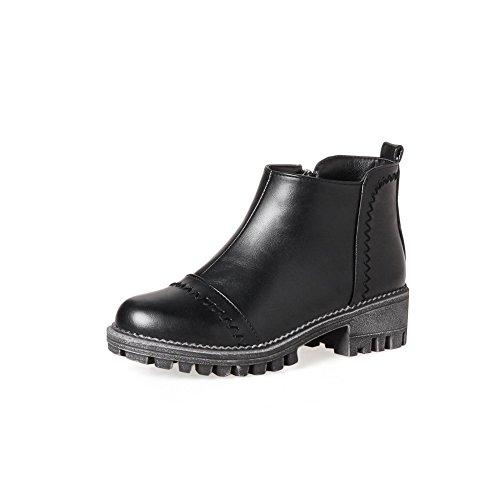 Black BalaMasa Platform Retro Resistant Womens ABL10154 Boots Urethane Slip v48vzrqw