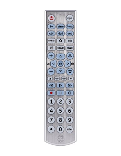 GE 33712 6-Device Big Button Universal Remote Control, Soft-Blue LED Fully Backlit, Designer Series by GE
