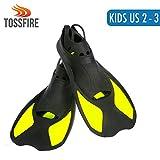 Snorkeling Fins For Kids, Short Floating Training Swimming Fins for Children Boys