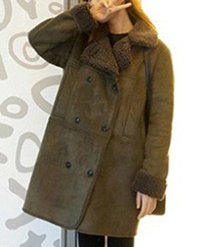 Caliente Espeso Del Mujer Ejército La Parka Del De Medio Capa Largo La Verde De Abrigo qw47fBf