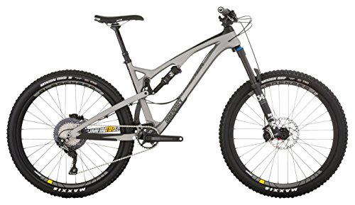 "Diamondback Bicycles Release 4 C Carbon Full Suspension Mountain Bike, Silver, 15.5""/Small"