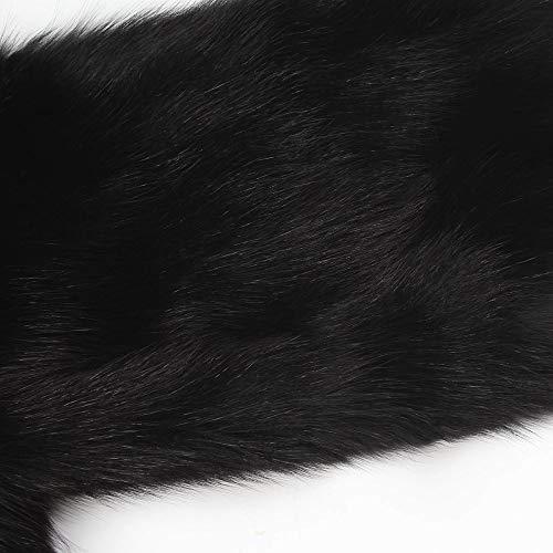 Soeur De Yogogo Femme Femme Fourrure Veste Manteau Fausse Fourrure Amies Fausse Douce Fille Fourrure Plume D'Autruche Manteau Noir Fluffy Winter OIwrYqO