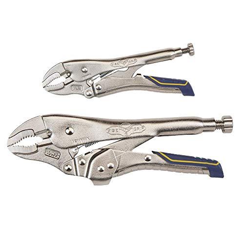 IRWIN VISE-GRIP Locking Pliers Combo Pack, Curved Jaw, 7-Inch & 10-Inch (IRHT82590)