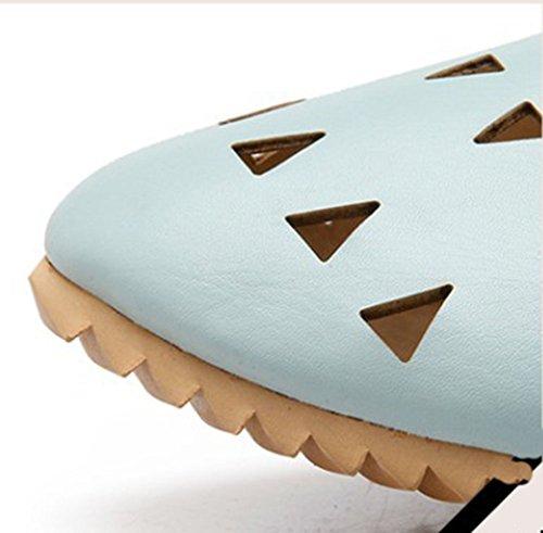 Aisun Comfy Shoes Blue Stylish Light Cut Hollow Out Womens Low Flats qrwOCr