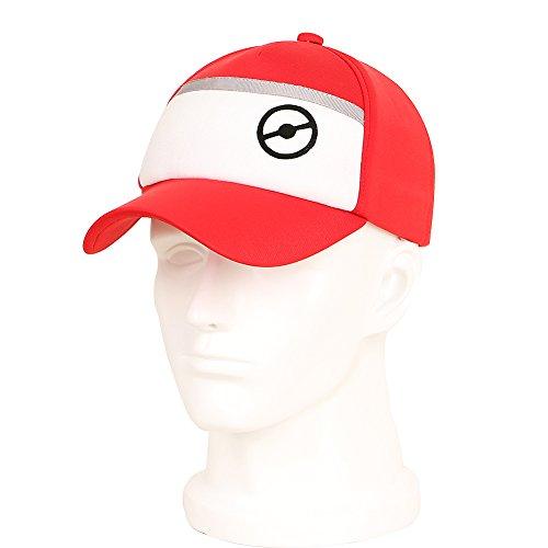 CG-disfraz-Pokemon-Pokeball-equipo-de-bisbol-gorro-de-Go-Mystic-Instinct-valor-rojo