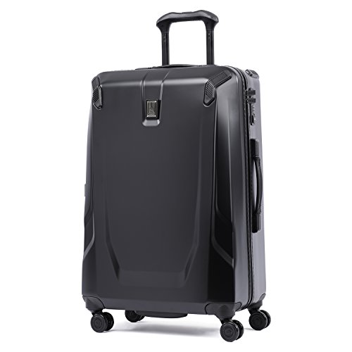 Travelpro Crew 11 25'' Hardside Spinner, Obsidian Black/ Blue Interior by Travelpro
