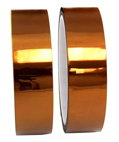 2-pack-1-mil-hi-temp-kapton-tape-2-roll-set-of-polyimide-film-tape-for-3d-printing-soldering-insulat