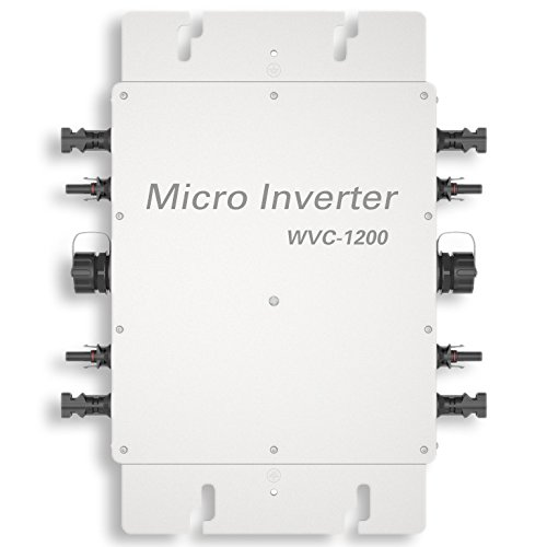 ECO-WORTHY 300W 600W 1200W Spannungswandler 24V to 230V Waterproof Wechselrichter Grid Tie Power Inverter for Sonnenkollektor with MPPT Function (1200W)