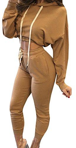 Ybenlow Womens Drawstring Sweatshirt Sweatpants