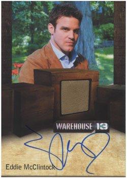 Warehouse 13 Season 3 Autograph Costume Card Eddie McClintock as Pete - Warehouse Costume