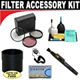 High Resolution 3-piece Filter Set (UV, Fluorescent, Polarizer) + 6-Piece Deluxe Cleaning Kit + Lenspen + Lens Cap Keeper + DB ROTH Micro Fiber Cloth For The Canon Elura 100, Optura S1 Mini DV Camcorders