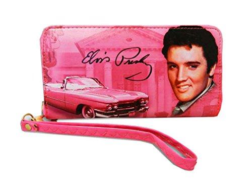 Elvis Presley Around Zip Closure Wallet (All Pink)