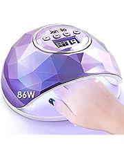 Janolia Nageldrogerlamp 86W UV LED Lamp voor Nagels, Professionele Gel UV LED Nagellamp met Sensor LCD Display voor Vingernagel en Teennagel Nageldesign met 4 Timers Geschikt voor Alle Gels