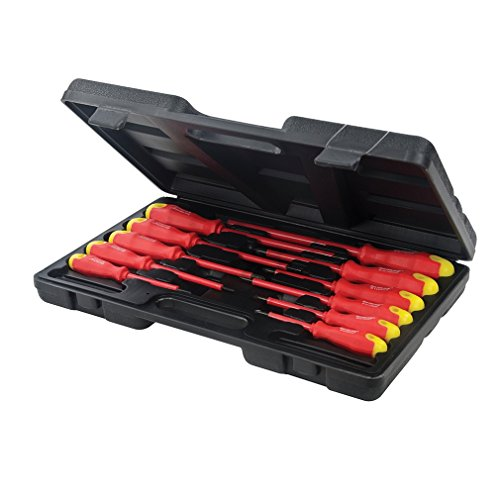 Silverline 918535 Insulated Soft-Grip Screwdriver Set Slotted & Phillips...