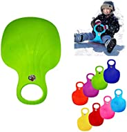 Snow Sled Board, Kids and Adult Outdoor Winter Toboggans Plastic Skiing Boards, Portable Snow Grass Sand Board