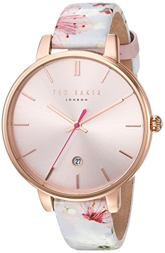 Ted Baker Women's 'KATE' Quartz Stainless Steel and Leather Dress WatchMulti Color (Model: 10031541) 41wIAL0q2jL