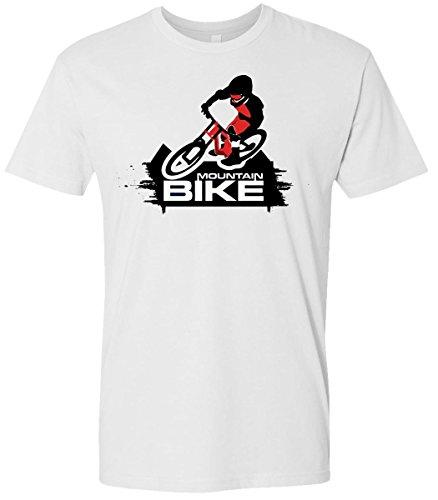 Mountain Bike Extreme Sports Rider on Air Action Softstyle Men's Tshirt (Xlarge, White) (Halloween En Estados Unidos)