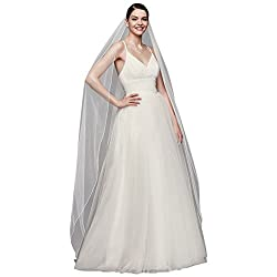 Chapel Length Veil with Pencil Edge Style 669, White