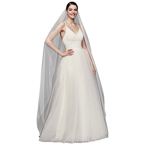 Chapel Length Veil with Pencil Edge Style 669, White (Pencil Edge)