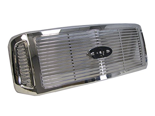 Duty Ford Super F350 Billet - 2005-2007 Ford Super Duty F250 F350 F450 F550 Grille Chrome With Billet Type Insert
