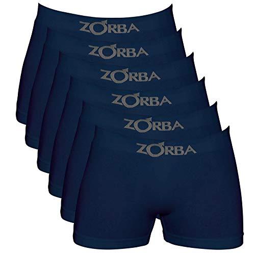 Kit Com 06 Cuecas Boxer Zorba Algodao Sem Costura 781 P Mescla Claro