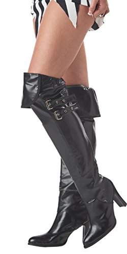 Deluxe Pirate Boot Covers (California Costumes Deluxe Boot Covers, Black, One Size Costume Accessory)