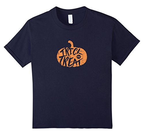 Kids Trick or Treat Halloween Costume DIY Funny Ideas T-Shirt 4 Navy