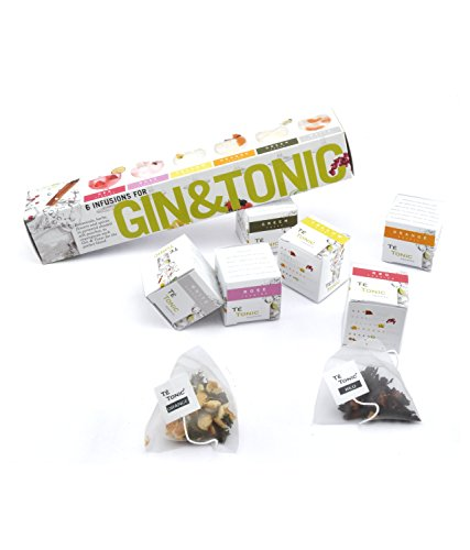 Energy Gift Set - Té Tonic 6 Infusions gift set for flavoring your Gin & Tonic cocktail. With fresh spices, herbs and flowers 100% Natural ingredients, Nr 1 Best seller as Gin gift in Europe