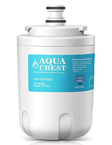 AQUACREST UKF7003 Replacement for Whirlpool EDR7D1, Maytag UKF7003, UKF7002AXX Refrigerator Water Filter - Maytag Ukf7003 Refrigerator