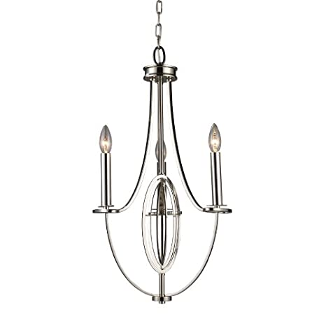 promo code 0129b 90dfc Portfolio 3 Light Chandelier in Polished Chrome CH0158 ...
