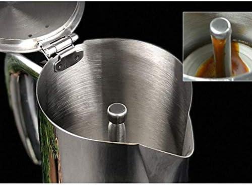 Hammer Cafetera, Olla Moka Acero Inoxidable, cafetera Italiana Hogar 4 Personas Cocina de inducción Calentador Manual 200 ml 300 ml (Size : 300ML): Amazon.es: Hogar