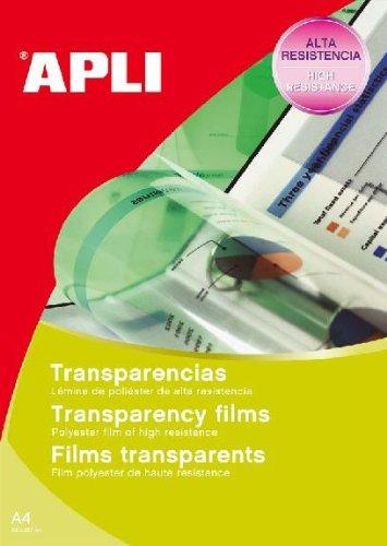 Apli 001063 100 Films Transparent avec Bande Supérieure, 210 x 297mm