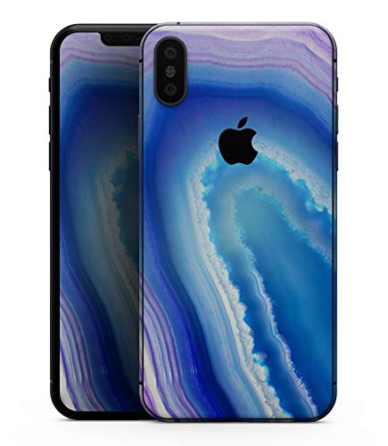 Blue & Purple Hue Agate - Design Skinz Premium Skin Decal Wrap for The iPhone XS ()