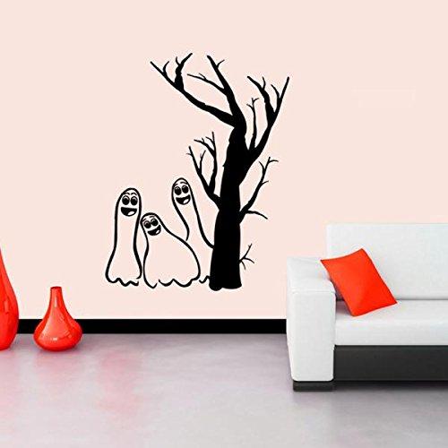 huoaoqiyegu Halloween Devils Background Decorated Living Room Bedroom Wall Stickers -