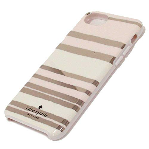 (Kate Spade New York 'Capri Stripe' Protective Rubber Case for iPhone 8 / iPhone 7 iPhone 6 - Gold/Cream )