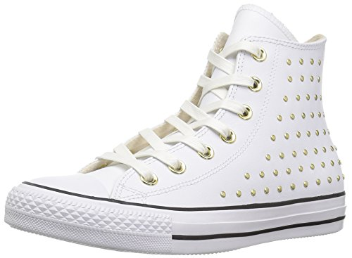 - Converse Women's CTAS HI White/Gold Sneaker, Optical, 7 M US