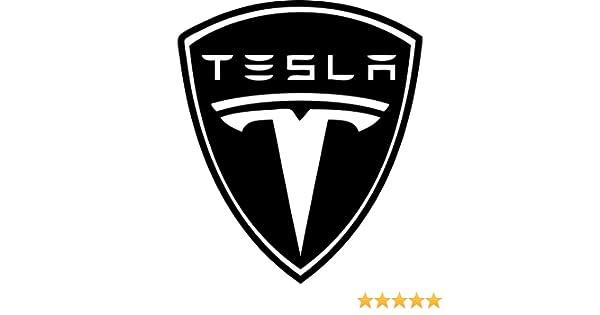 "White 6/"" Tesla Motors Vinyl Decal Repositionable Sticker RoboGoods 6 Choose Your Color"