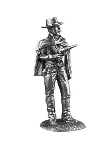 Ronin Miniatures Wild West Cowboy Good Clint Eastwood As Blondie AKA The Man With No Name UnPainted Tin Metal Toy Soldier Size 1/32 Scale 54mm for Home Collectible Figurines Best Gift ITEM #Us-04
