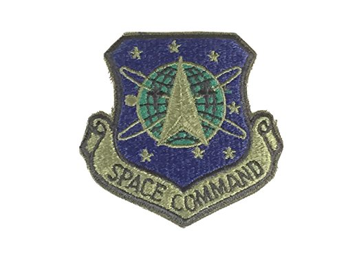 Pilot Name Patches - USAF SPACE COMMAND Unit Patch - OD Green/Color - Veteran Owned Business
