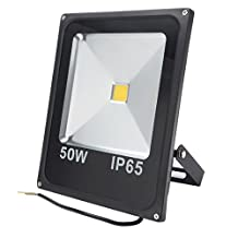 uxcell® 50W Super Bright Flood Light Lamp Outdoor Spot Light Waterproof Security Spotlight Daylight Floodlight LED Work Light Pure White 6500K 4500lm AC 85-265V
