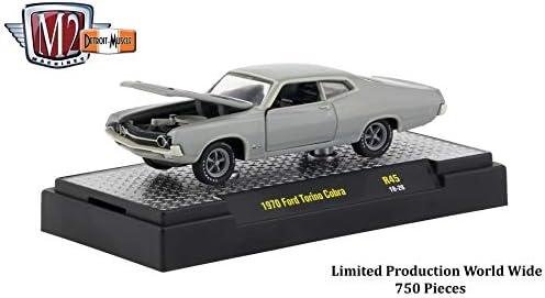 GOLD 1970 FORD TORINO COBRA M2 MACHINE 1:64 SCALE DIECAST METAL MODEL CAR