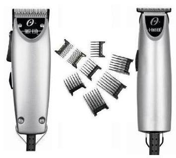 Oster Silver Combo Fast Feed and T finisher and 8pc comb set Limited Edition Made in the USA Package deal.